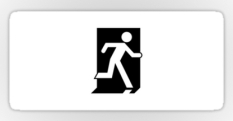 Running Man Fire Safety Exit Sign Emergency Evacuation Sticker Decals 123