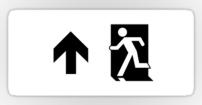 Running Man Fire Safety Exit Sign Emergency Evacuation Sticker Decals 124