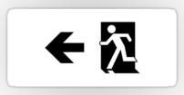 Running Man Fire Safety Exit Sign Emergency Evacuation Sticker Decals 125