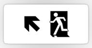 Running Man Fire Safety Exit Sign Emergency Evacuation Sticker Decals 126