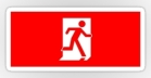Running Man Fire Safety Exit Sign Emergency Evacuation Sticker Decals 13