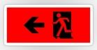 Running Man Fire Safety Exit Sign Emergency Evacuation Sticker Decals 14