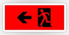 Running Man Fire Safety Exit Sign Emergency Evacuation Sticker Decals 14