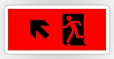 Running Man Fire Safety Exit Sign Emergency Evacuation Sticker Decals 15