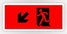 Running Man Fire Safety Exit Sign Emergency Evacuation Sticker Decals 16
