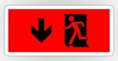 Running Man Fire Safety Exit Sign Emergency Evacuation Sticker Decals 17