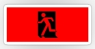 Running Man Fire Safety Exit Sign Emergency Evacuation Sticker Decals 18