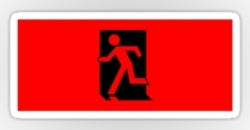 Running Man Fire Safety Exit Sign Emergency Evacuation Sticker Decals 18