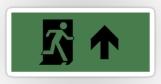 Running Man Fire Safety Exit Sign Emergency Evacuation Sticker Decals 19