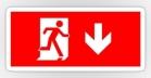 Running Man Fire Safety Exit Sign Emergency Evacuation Sticker Decals 2