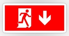 Running Man Fire Safety Exit Sign Emergency Evacuation Sticker Decals 2