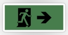 Running Man Fire Safety Exit Sign Emergency Evacuation Sticker Decals 20