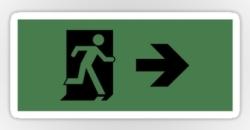 Running Man Fire Safety Exit Sign Emergency Evacuation Sticker Decals 20