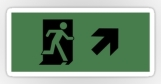 Running Man Fire Safety Exit Sign Emergency Evacuation Sticker Decals 21