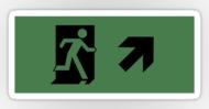 Running Man Fire Safety Exit Sign Emergency Evacuation Sticker Decals 21