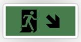 Running Man Fire Safety Exit Sign Emergency Evacuation Sticker Decals 22