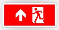 Running Man Fire Safety Exit Sign Emergency Evacuation Sticker Decals 23