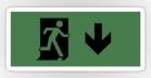 Running Man Fire Safety Exit Sign Emergency Evacuation Sticker Decals 24
