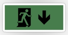 Running Man Fire Safety Exit Sign Emergency Evacuation Sticker Decals 24