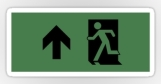 Running Man Fire Safety Exit Sign Emergency Evacuation Sticker Decals 25