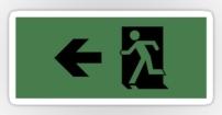 Running Man Fire Safety Exit Sign Emergency Evacuation Sticker Decals 26