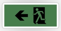 Running Man Fire Safety Exit Sign Emergency Evacuation Sticker Decals 26
