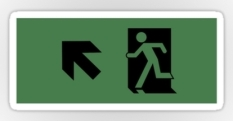 Running Man Fire Safety Exit Sign Emergency Evacuation Sticker Decals 27