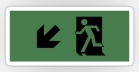 Running Man Fire Safety Exit Sign Emergency Evacuation Sticker Decals 28