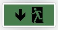 Running Man Fire Safety Exit Sign Emergency Evacuation Sticker Decals 29