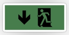 Running Man Fire Safety Exit Sign Emergency Evacuation Sticker Decals 29