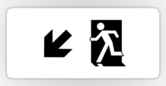 Running Man Fire Safety Exit Sign Emergency Evacuation Sticker Decals 3