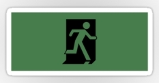 Running Man Fire Safety Exit Sign Emergency Evacuation Sticker Decals 30