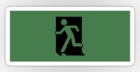Running Man Fire Safety Exit Sign Emergency Evacuation Sticker Decals 31