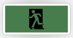 Running Man Fire Safety Exit Sign Emergency Evacuation Sticker Decals 31