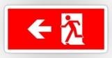 Running Man Fire Safety Exit Sign Emergency Evacuation Sticker Decals 32