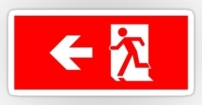 Running Man Fire Safety Exit Sign Emergency Evacuation Sticker Decals 32