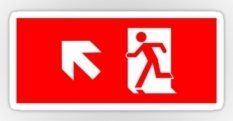 Running Man Fire Safety Exit Sign Emergency Evacuation Sticker Decals 33
