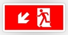 Running Man Fire Safety Exit Sign Emergency Evacuation Sticker Decals 34