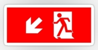 Running Man Fire Safety Exit Sign Emergency Evacuation Sticker Decals 34