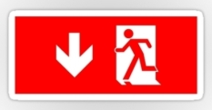 Running Man Fire Safety Exit Sign Emergency Evacuation Sticker Decals 35