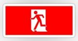 Running Man Fire Safety Exit Sign Emergency Evacuation Sticker Decals 36