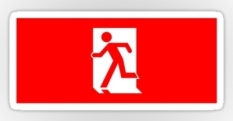 Running Man Fire Safety Exit Sign Emergency Evacuation Sticker Decals 36