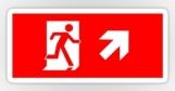 Running Man Fire Safety Exit Sign Emergency Evacuation Sticker Decals 37