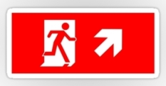 Running Man Fire Safety Exit Sign Emergency Evacuation Sticker Decals 37