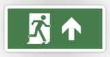 Running Man Fire Safety Exit Sign Emergency Evacuation Sticker Decals 38