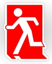 Running Man Fire Safety Exit Sign Emergency Evacuation Sticker Decals 39