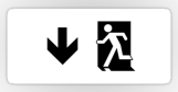 Running Man Fire Safety Exit Sign Emergency Evacuation Sticker Decals 4