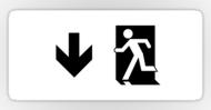 Running Man Fire Safety Exit Sign Emergency Evacuation Sticker Decals 4