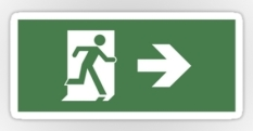 Running Man Fire Safety Exit Sign Emergency Evacuation Sticker Decals 40