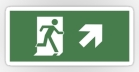 Running Man Fire Safety Exit Sign Emergency Evacuation Sticker Decals 41